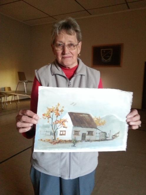 Tannie Grieta met haar eerste kunswerke
